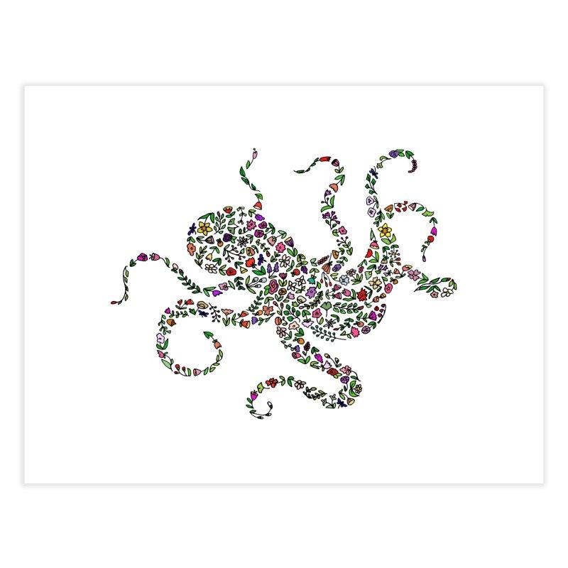 Floral Octopus Home Fine Art Print by LadyBaigStudio's Artist Shop