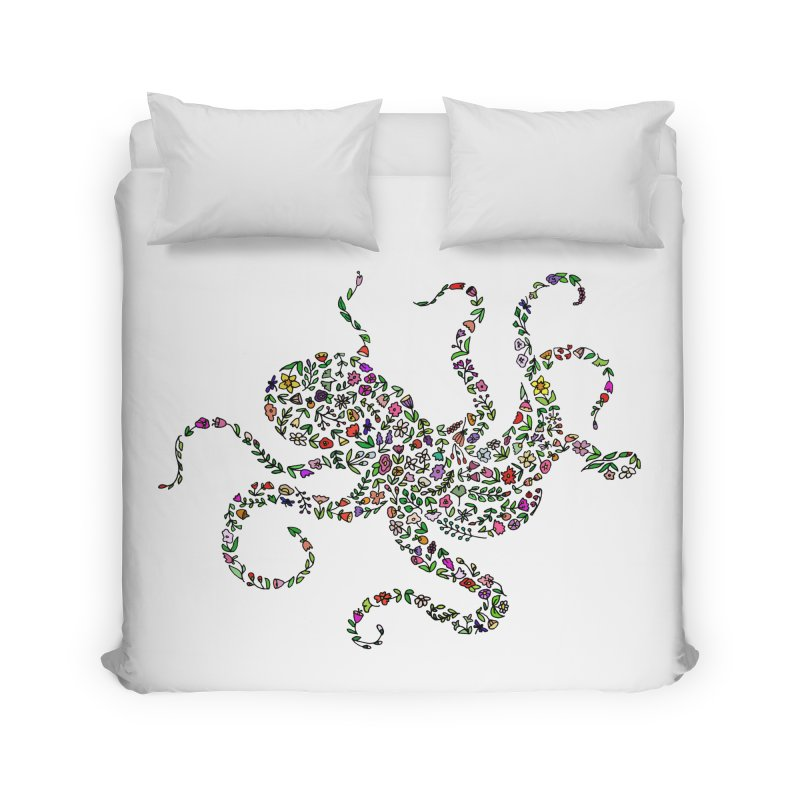 Floral Octopus Home Duvet by LadyBaigStudio's Artist Shop