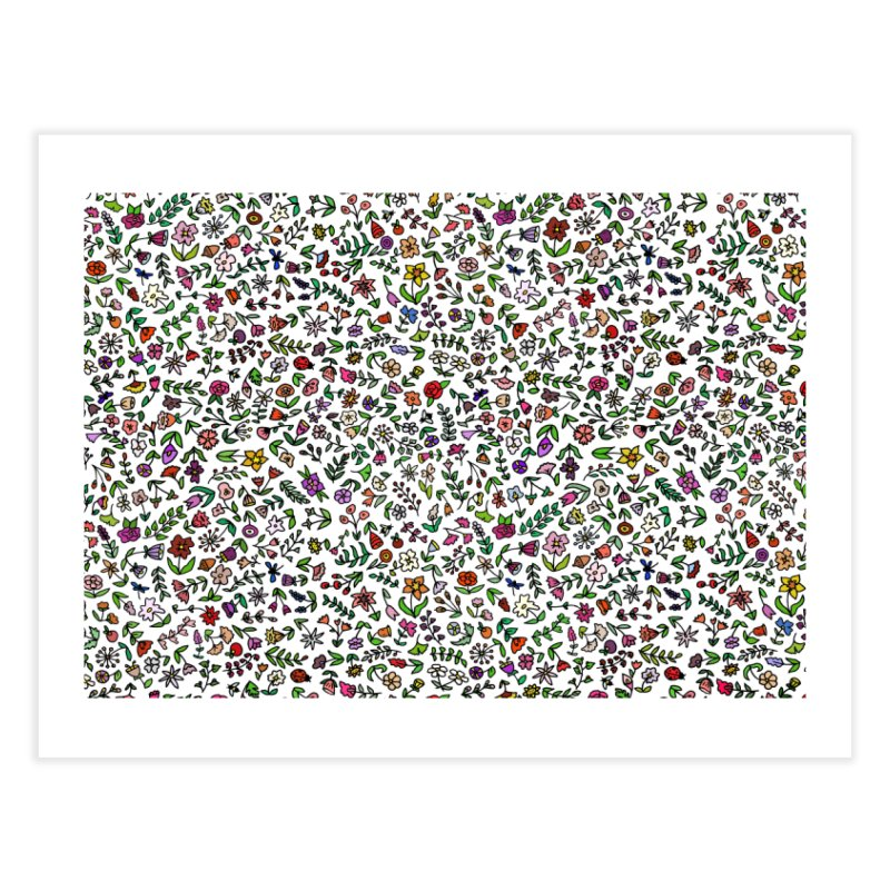 Flowers Everywhere! Home Fine Art Print by LadyBaigStudio's Artist Shop