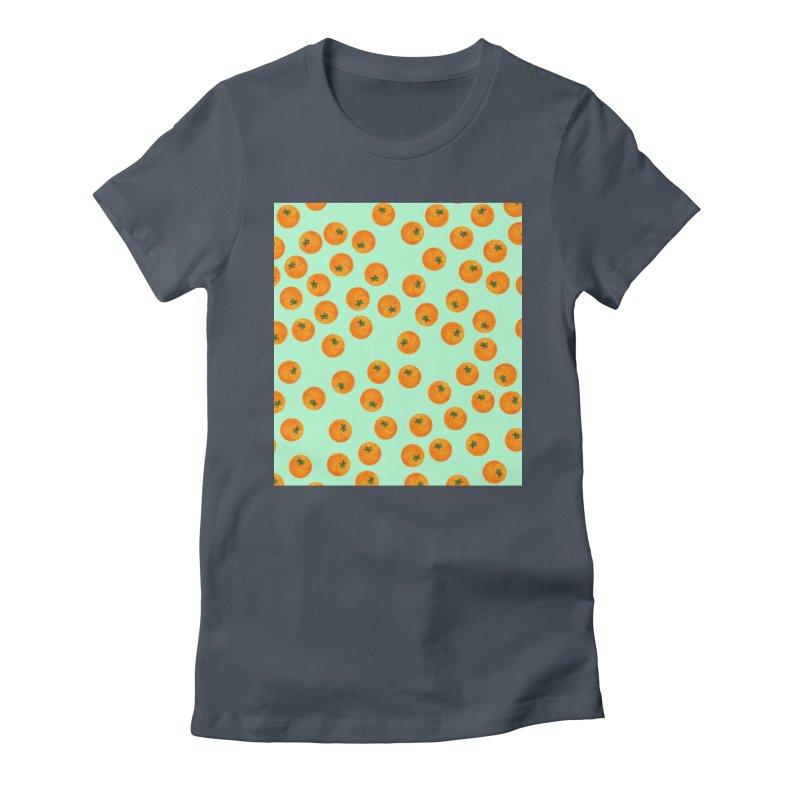 Repeating Oranges Women's T-Shirt by LadyBaigStudio's Artist Shop