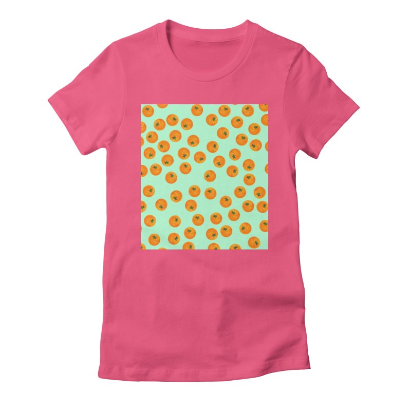 Repeating Oranges Women's Fitted T-Shirt by LadyBaigStudio's Artist Shop