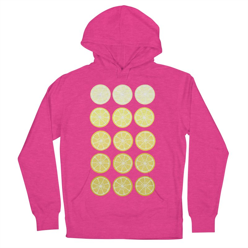 Gradient Lemons Men's French Terry Pullover Hoody by LadyBaigStudio's Artist Shop