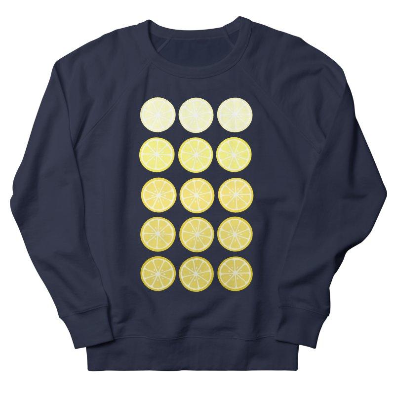 Gradient Lemons Women's French Terry Sweatshirt by LadyBaigStudio's Artist Shop