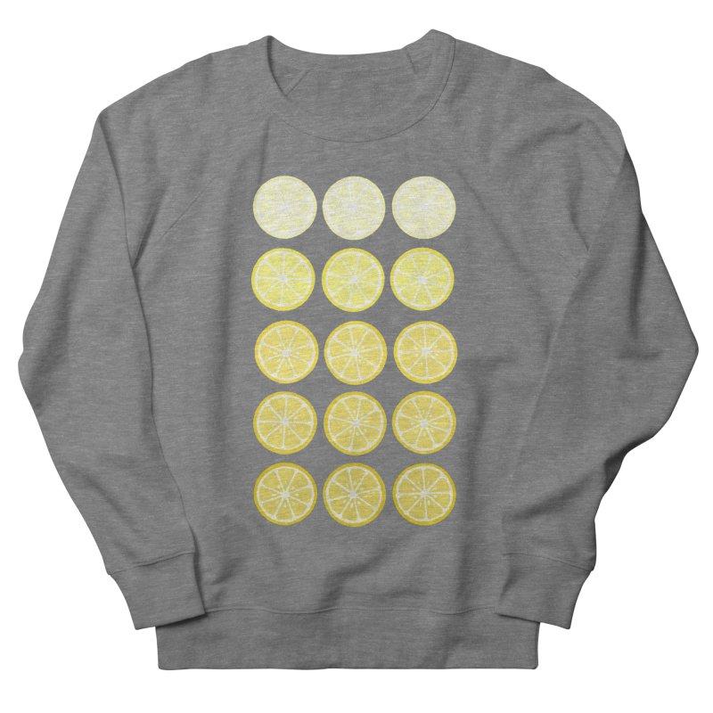 Gradient Lemons Men's French Terry Sweatshirt by LadyBaigStudio's Artist Shop