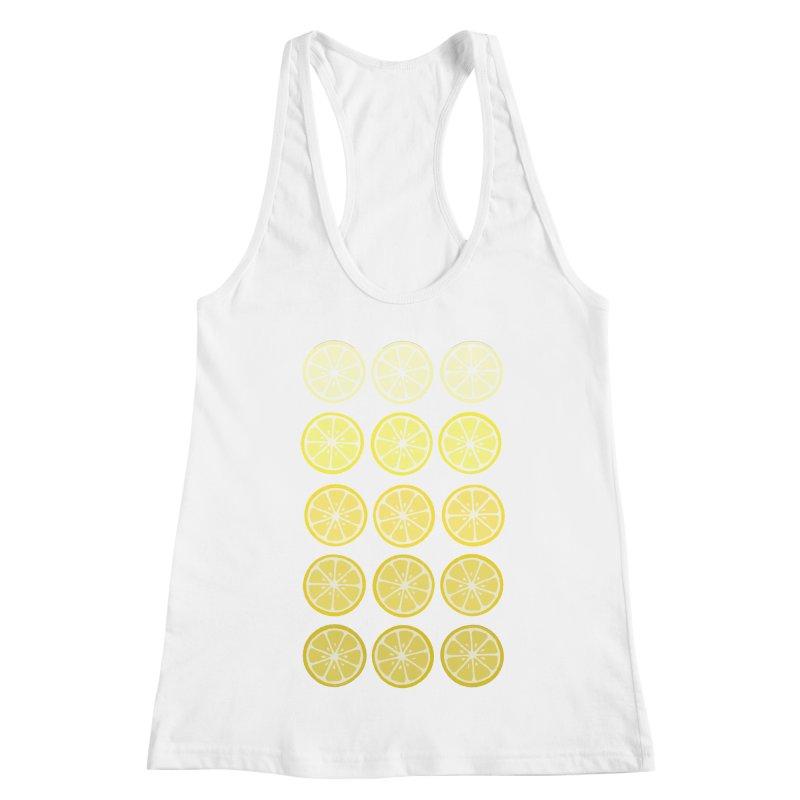 Gradient Lemons Women's Racerback Tank by LadyBaigStudio's Artist Shop