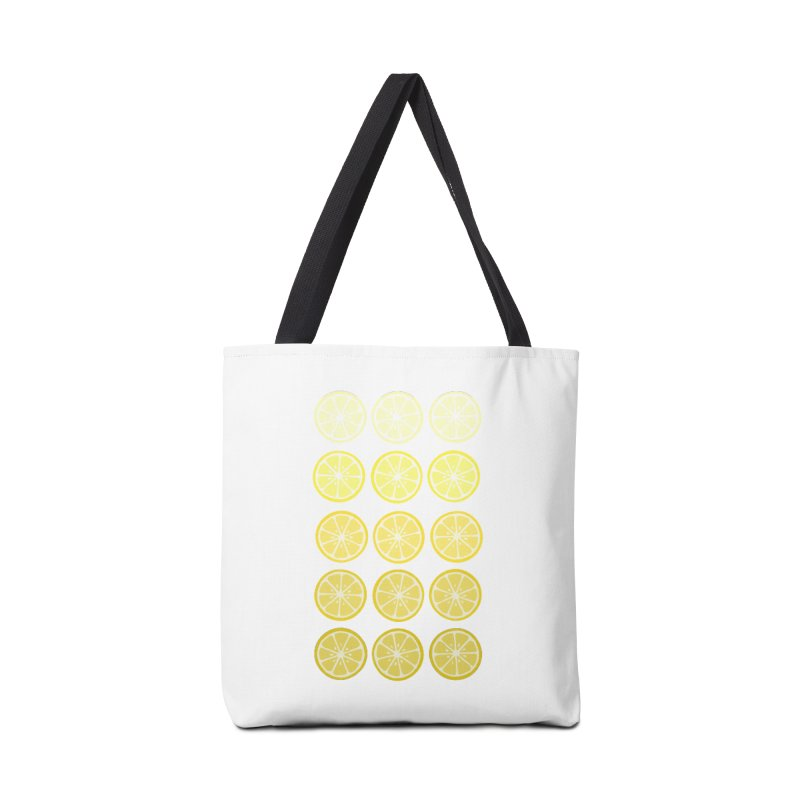 Gradient Lemons Accessories Bag by LadyBaigStudio's Artist Shop