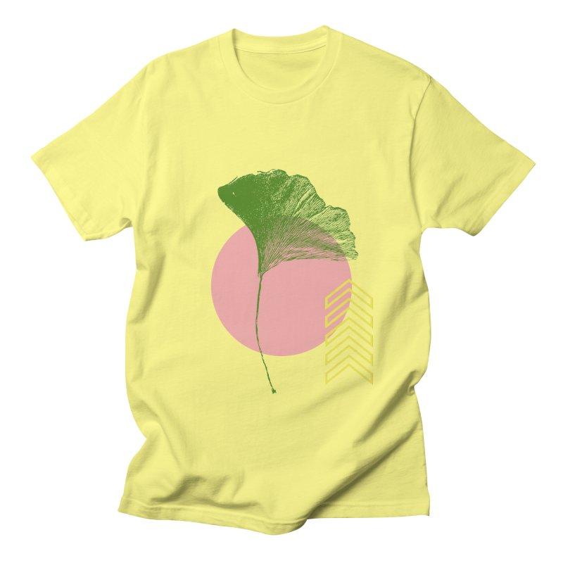 Ginkgo Leaf #1 Men's T-Shirt by LadyBaigStudio's Artist Shop