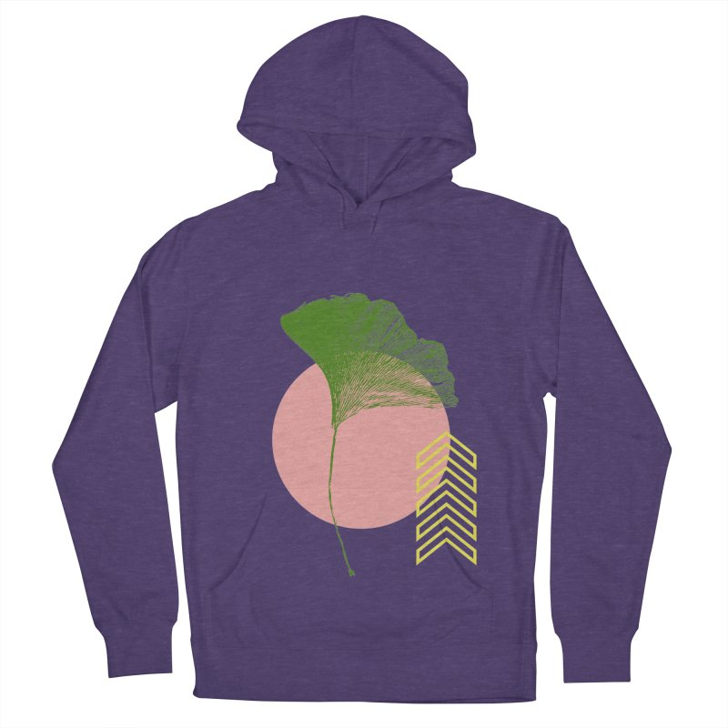 Ginkgo Leaf #1 Women's French Terry Pullover Hoody by LadyBaigStudio's Artist Shop