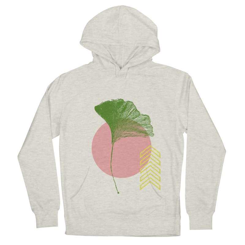 Ginkgo Leaf #1 Men's French Terry Pullover Hoody by LadyBaigStudio's Artist Shop
