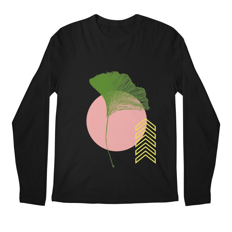 Ginkgo Leaf #1 Men's Regular Longsleeve T-Shirt by LadyBaigStudio's Artist Shop