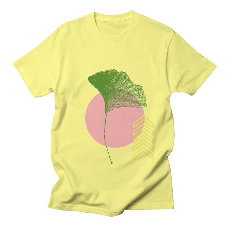 Ginkgo Leaf #1 Men's T-Shirt by LadyBaigStudio's Artist Shop