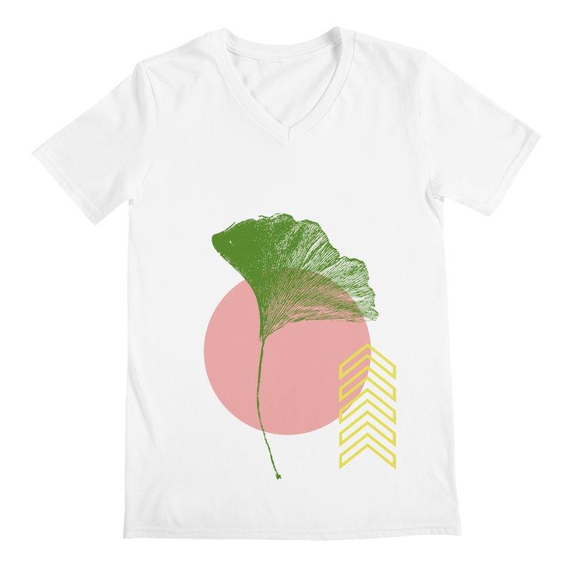 Ginkgo Leaf #1 Men's V-Neck by LadyBaigStudio's Artist Shop