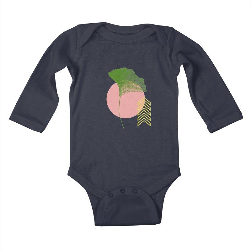 Ginkgo Leaf #1 Kids Baby Longsleeve Bodysuit by LadyBaigStudio's Artist Shop