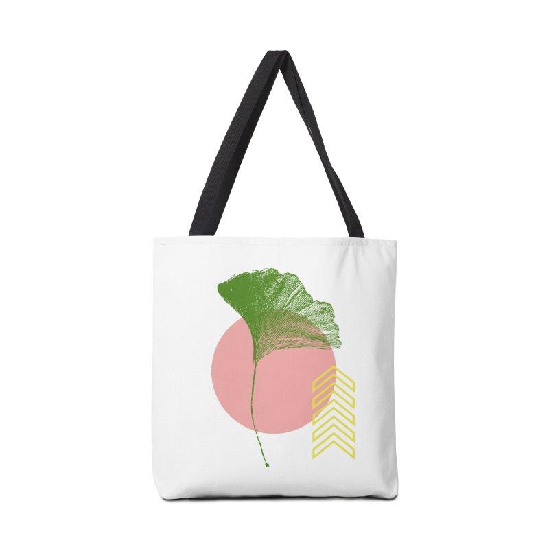 Ginkgo Leaf #1 Accessories Bag by LadyBaigStudio's Artist Shop
