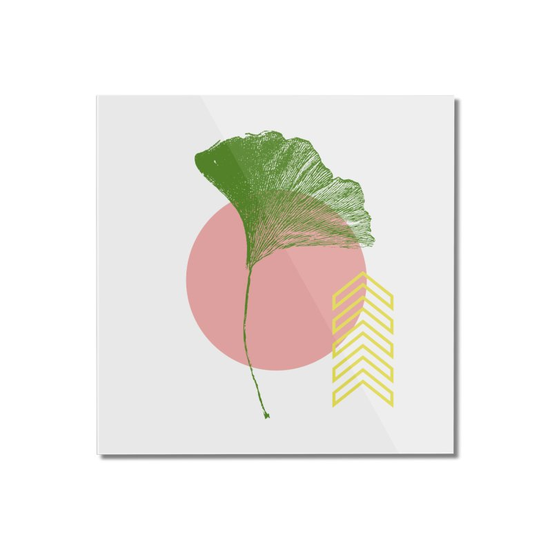 Ginkgo Leaf #1 Home Mounted Acrylic Print by LadyBaigStudio's Artist Shop