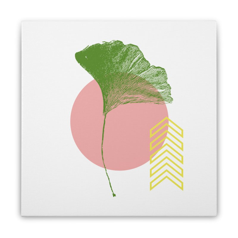 Ginkgo Leaf #1 Home Stretched Canvas by LadyBaigStudio's Artist Shop