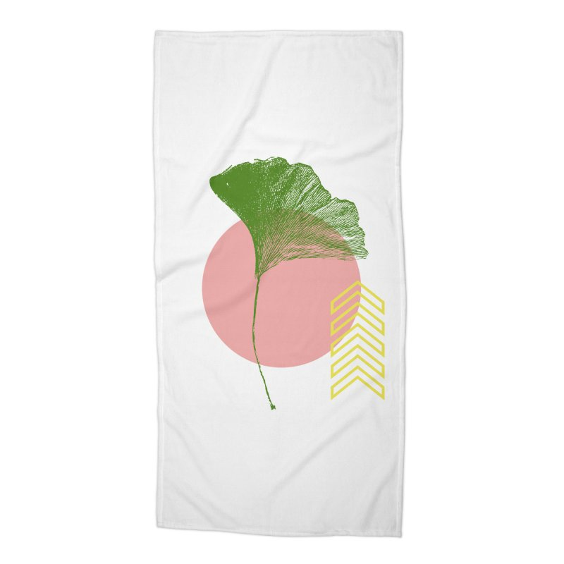 Ginkgo Leaf #1 Accessories Beach Towel by LadyBaigStudio's Artist Shop