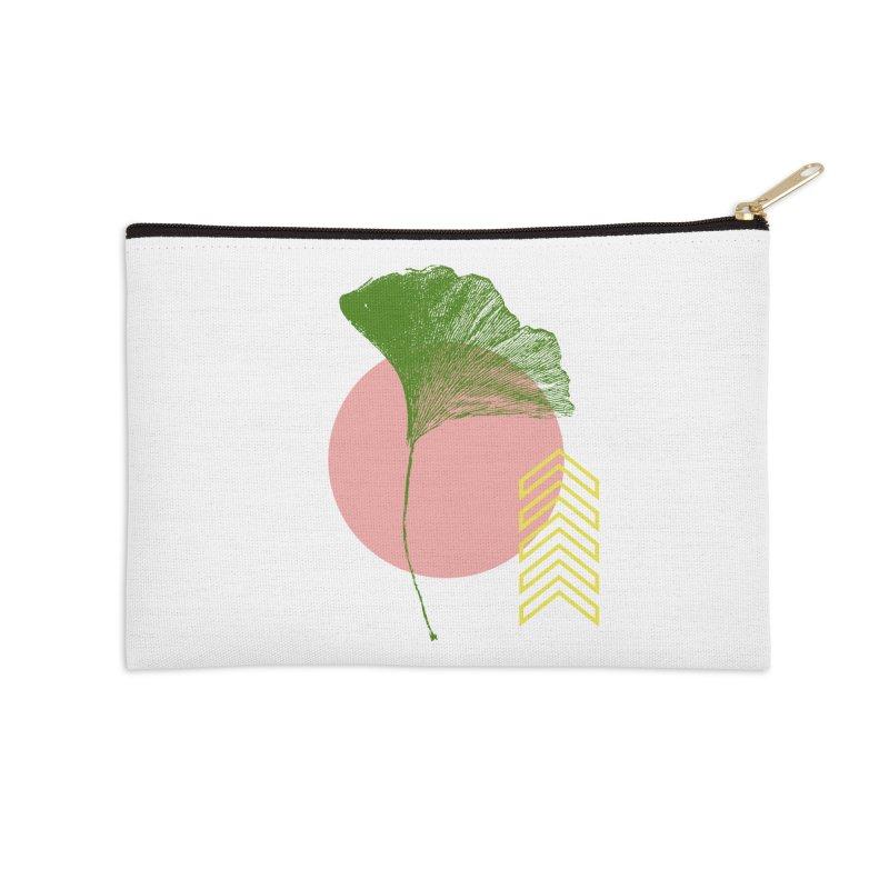Ginkgo Leaf #1 Accessories Zip Pouch by LadyBaigStudio's Artist Shop