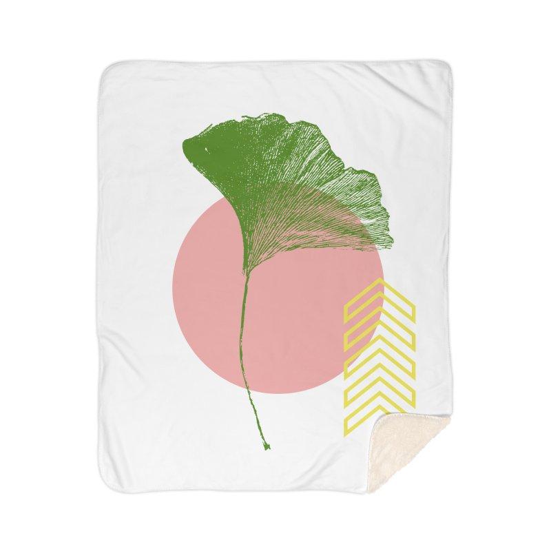 Ginkgo Leaf #1 Home Sherpa Blanket Blanket by LadyBaigStudio's Artist Shop