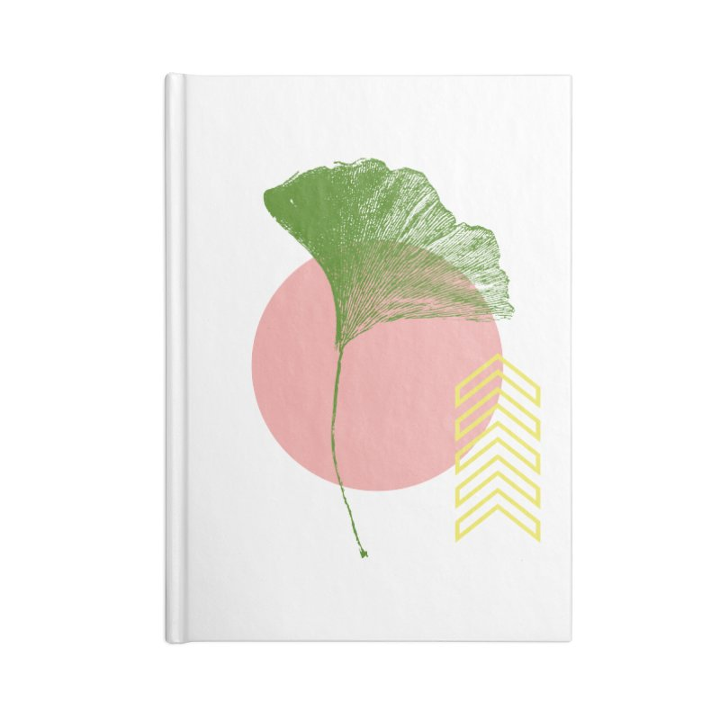 Ginkgo Leaf #1 Accessories Blank Journal Notebook by LadyBaigStudio's Artist Shop