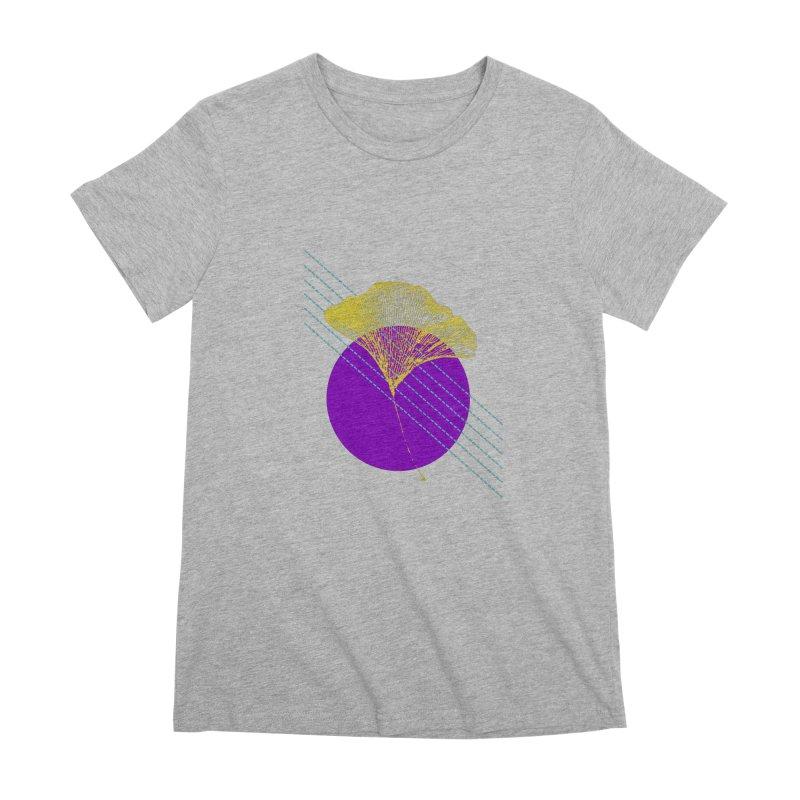 Ginkgo Leaf #2 Women's Premium T-Shirt by LadyBaigStudio's Artist Shop