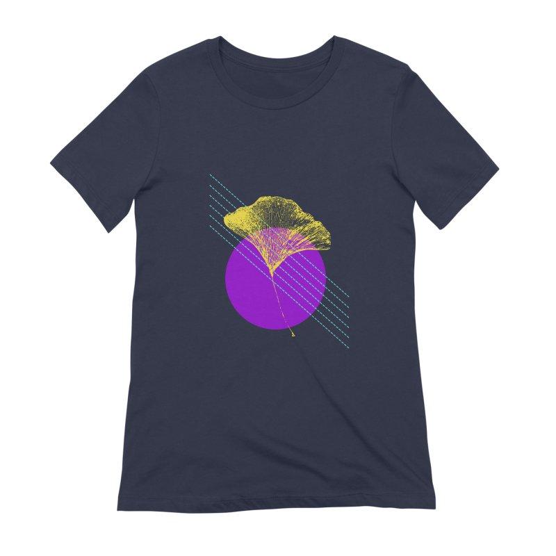 Ginkgo Leaf #2 Women's Extra Soft T-Shirt by LadyBaigStudio's Artist Shop