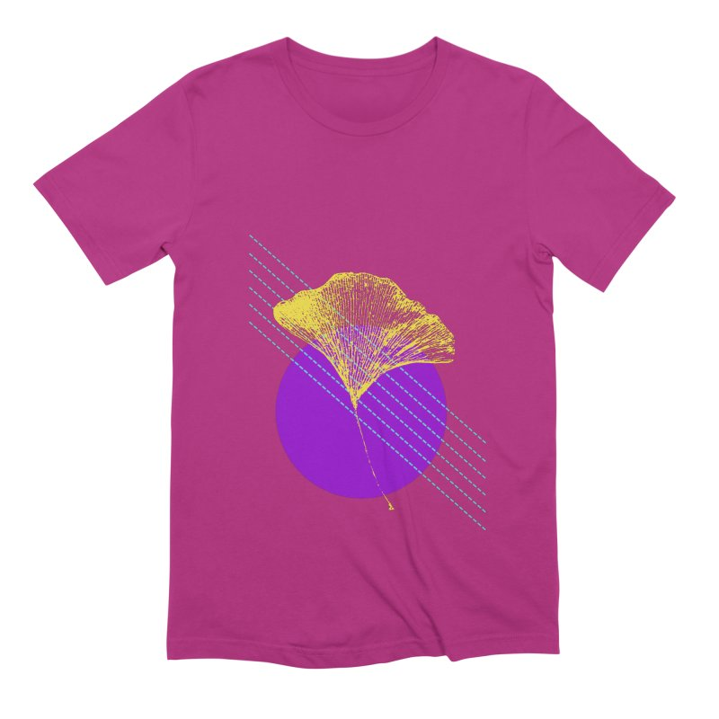 Ginkgo Leaf #2 Men's Extra Soft T-Shirt by LadyBaigStudio's Artist Shop