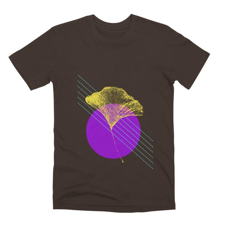 Ginkgo Leaf #2 Men's Premium T-Shirt by LadyBaigStudio's Artist Shop