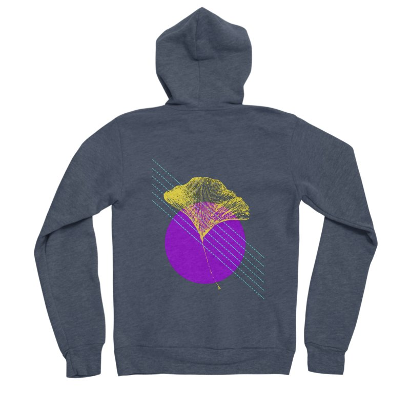 Ginkgo Leaf #2 Women's Sponge Fleece Zip-Up Hoody by LadyBaigStudio's Artist Shop