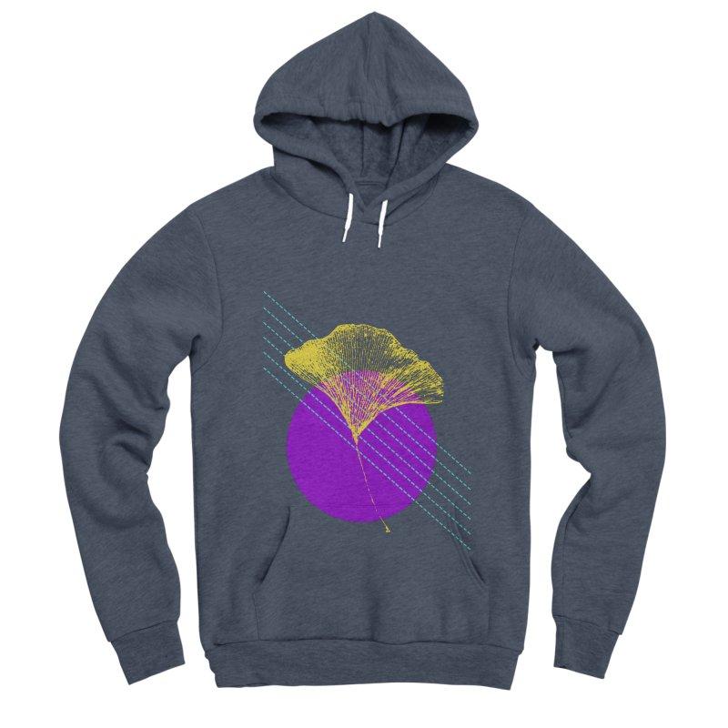 Ginkgo Leaf #2 Men's Sponge Fleece Pullover Hoody by LadyBaigStudio's Artist Shop