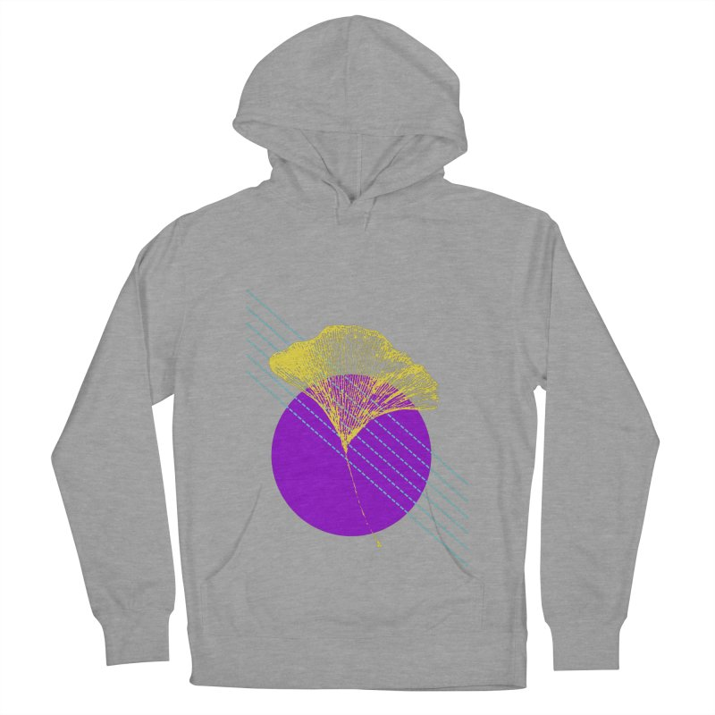Ginkgo Leaf #2 Men's French Terry Pullover Hoody by LadyBaigStudio's Artist Shop