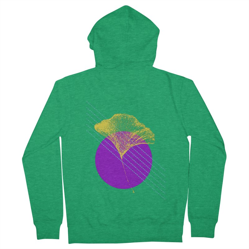 Ginkgo Leaf #2 Women's Zip-Up Hoody by LadyBaigStudio's Artist Shop