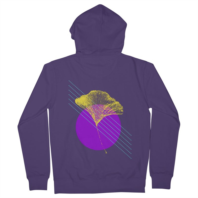 Ginkgo Leaf #2 Women's French Terry Zip-Up Hoody by LadyBaigStudio's Artist Shop