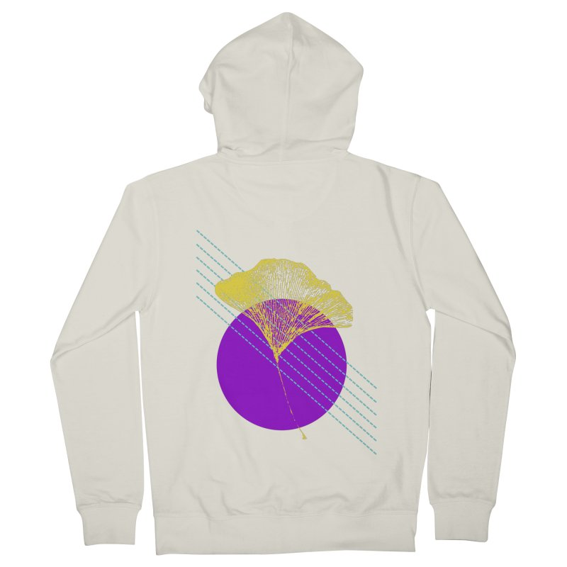 Ginkgo Leaf #2 Men's French Terry Zip-Up Hoody by LadyBaigStudio's Artist Shop