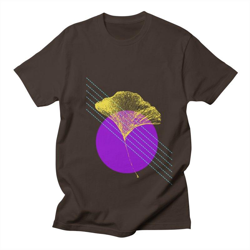 Ginkgo Leaf #2 Men's Regular T-Shirt by LadyBaigStudio's Artist Shop