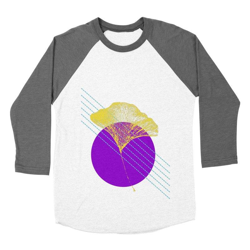 Ginkgo Leaf #2 Women's Baseball Triblend Longsleeve T-Shirt by LadyBaigStudio's Artist Shop