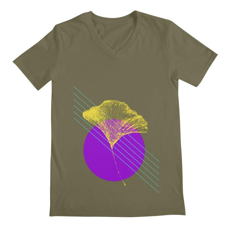 Ginkgo Leaf #2 Men's V-Neck by LadyBaigStudio's Artist Shop