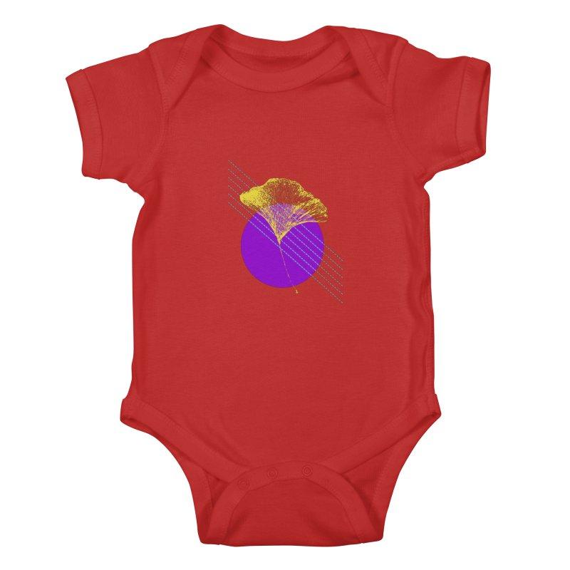 Ginkgo Leaf #2 Kids Baby Bodysuit by LadyBaigStudio's Artist Shop