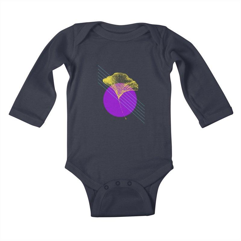 Ginkgo Leaf #2 Kids Baby Longsleeve Bodysuit by LadyBaigStudio's Artist Shop