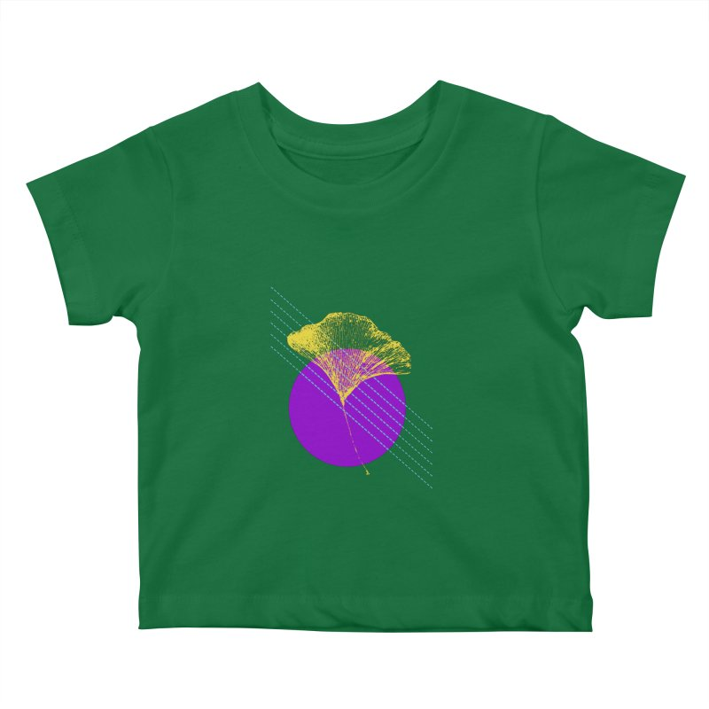 Ginkgo Leaf #2 Kids Baby T-Shirt by LadyBaigStudio's Artist Shop