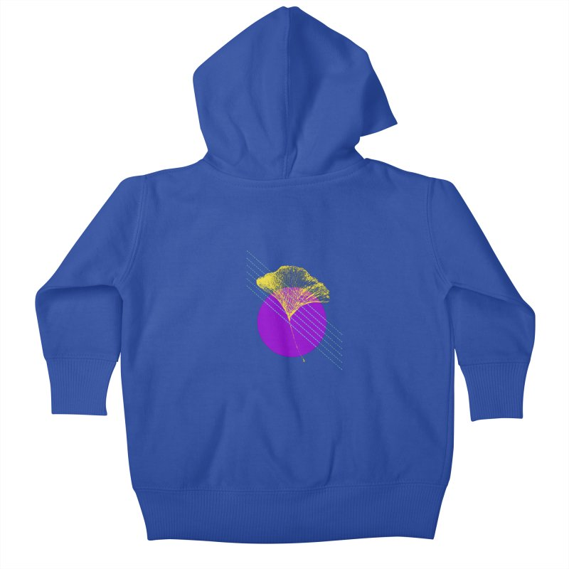 Ginkgo Leaf #2 Kids Baby Zip-Up Hoody by LadyBaigStudio's Artist Shop