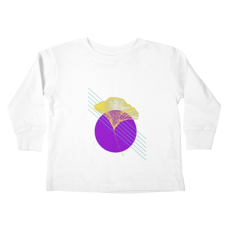 Ginkgo Leaf #2 Kids Toddler Longsleeve T-Shirt by LadyBaigStudio's Artist Shop