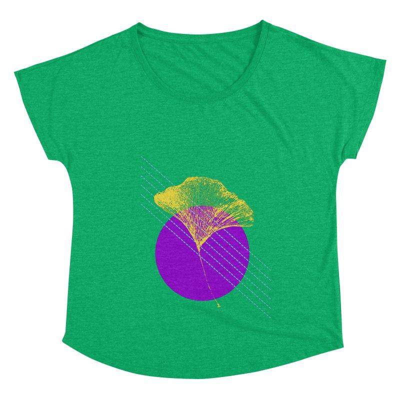 Ginkgo Leaf #2 Women's Scoop Neck by LadyBaigStudio's Artist Shop