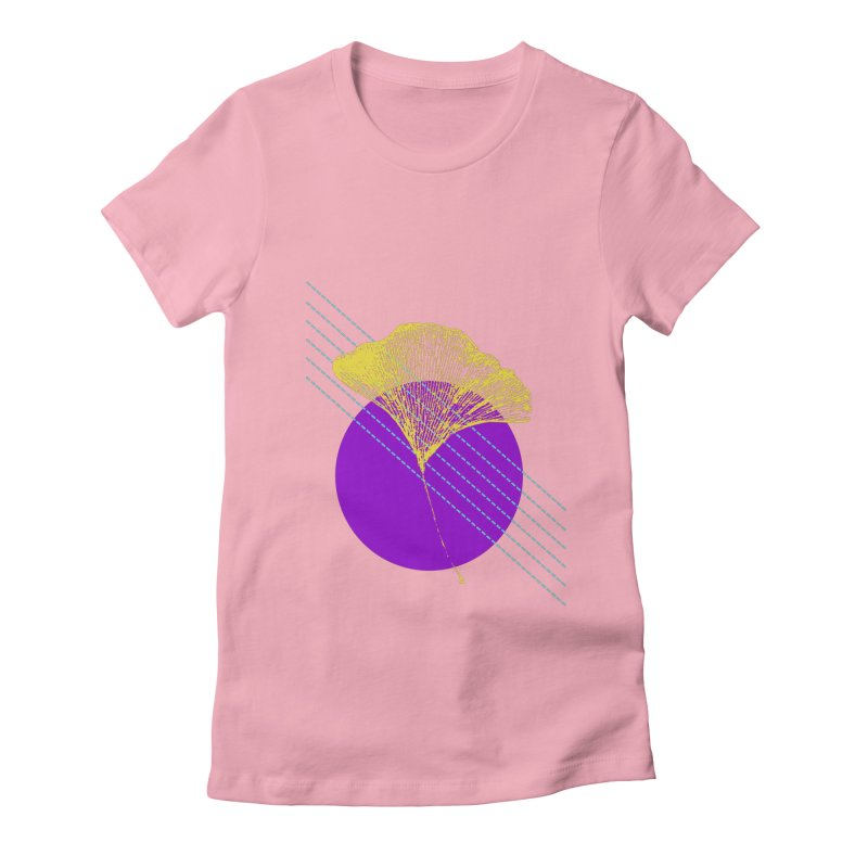 Ginkgo Leaf #2 Women's Fitted T-Shirt by LadyBaigStudio's Artist Shop