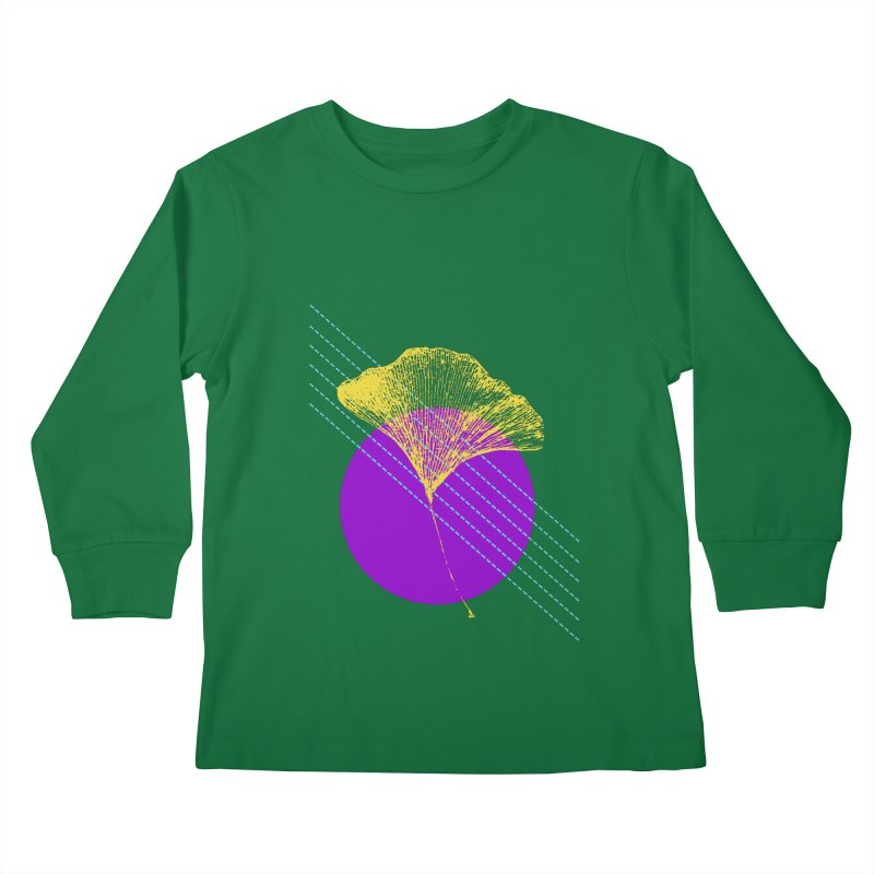 Ginkgo Leaf #2 Kids Longsleeve T-Shirt by LadyBaigStudio's Artist Shop