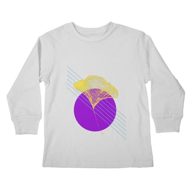 Ginkgo Leaf #2 Kids Longsleeve T-Shirt by LadyBaigStudio's Artist Shop
