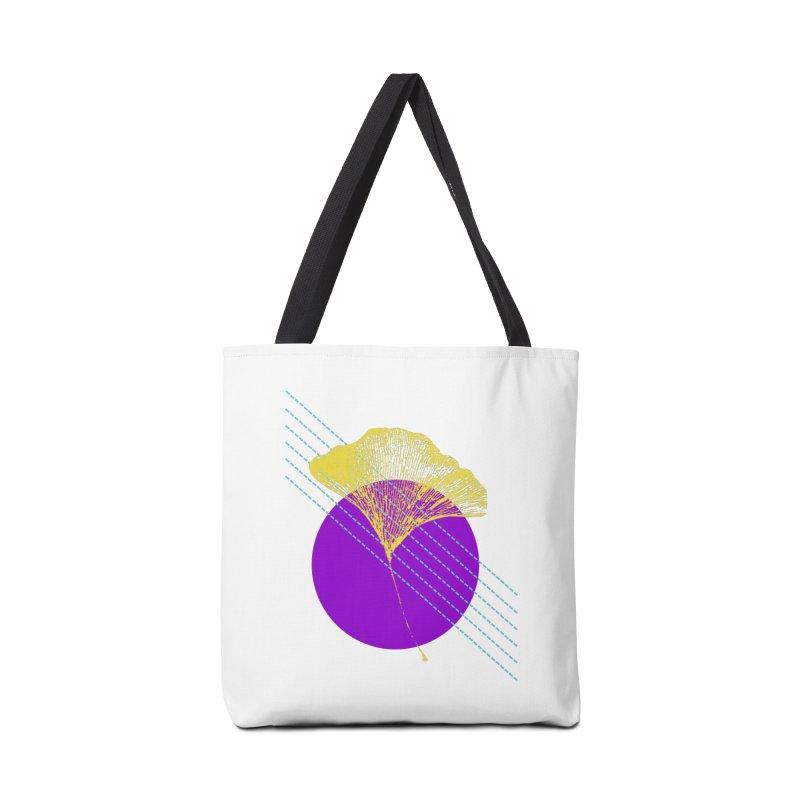 Ginkgo Leaf #2 Accessories Bag by LadyBaigStudio's Artist Shop