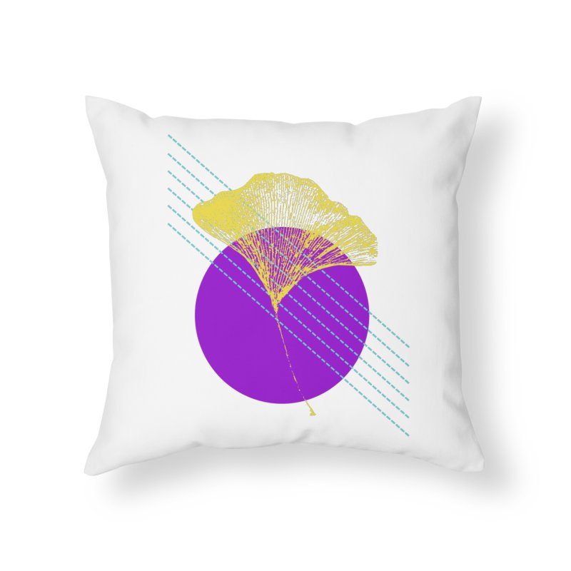 Ginkgo Leaf #2 Home Throw Pillow by LadyBaigStudio's Artist Shop