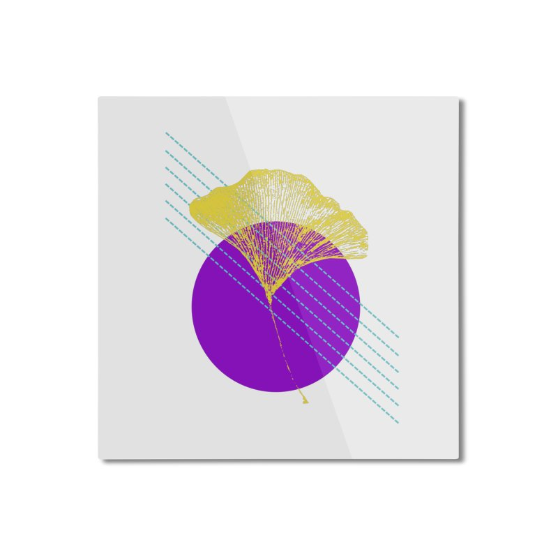 Ginkgo Leaf #2 Home Mounted Aluminum Print by LadyBaigStudio's Artist Shop