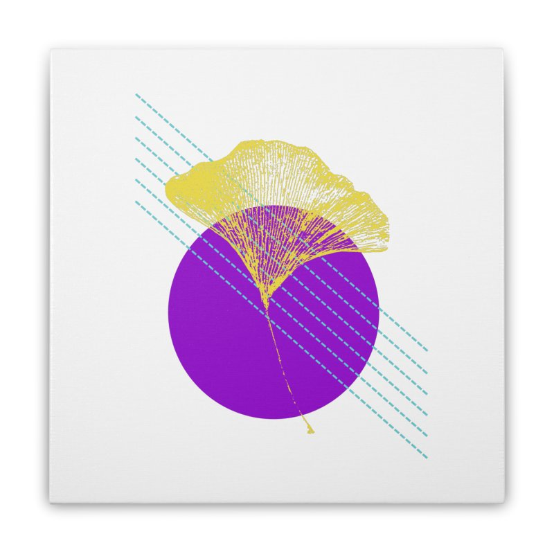 Ginkgo Leaf #2 Home Stretched Canvas by LadyBaigStudio's Artist Shop
